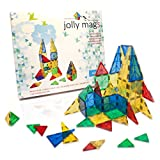 Safety Certified - Jolly Mags Magnetic Tiles Set - 3D Building Blocks Toy with Magnets for Kids - Best for Stacking - Clear Color 32 Pcs Set