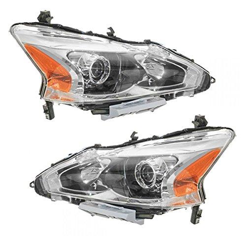 Headlight Head Lamp Halogen LH Left RH Right Pair for 13 Nissan Altima - Rh Headlight Headlamp