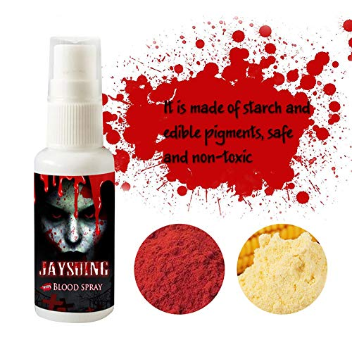 Hankyky Realistic Fake Blood Spray Scary Halloween Make Up Splatter Blood Party Favors for Theater and Costume or Halloween Zombie, Vampire and Monster Dress Up 30ML/1 Fl.oz Bottle