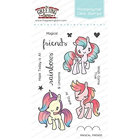 Amazon the greeting farm clear stamp magical friends the greeting farm clear stamp magical friends m4hsunfo