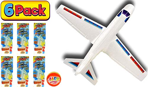 2GoodShop Giant Airplane Glider Kids Fying Toy Build It, Throw It and Watch It Glide Hours of Outdoor Fun Pack of 6 | Item #1030