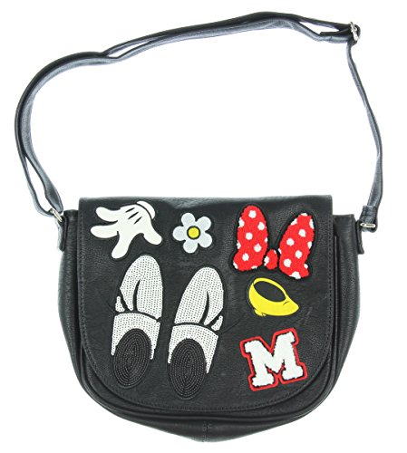 Loungefly Minnie Patches Crossbody (Black/Red)