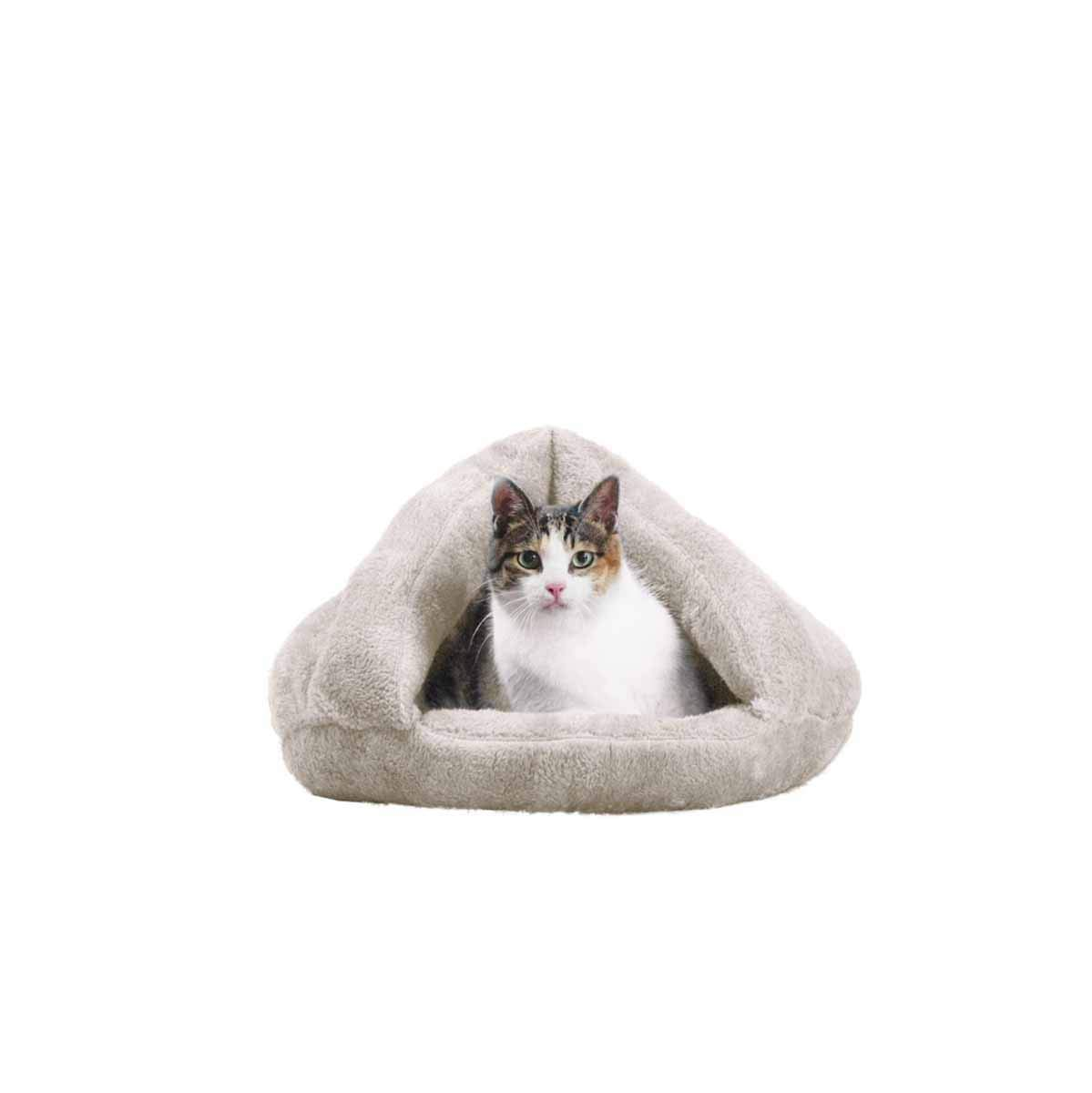 Cat Nest, Half Nest, Pet Kennel, Cat Sleeping Bag, Thick Cat House, Cat House, Cat House, Bichon Plus Philippe Cat, (color   White, Size   M)