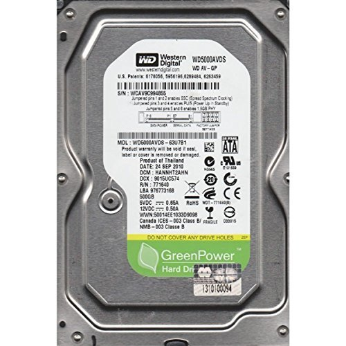 "Western Digital GREEN/BLACK/BLUE 500GB 5400~7200RPM( Intelli Drives) 16MB~32MB Cache SATA II-SATAIII( 3.0GB/s~6.0GB/S) 3.5""HDD for CCTV,DVR,RAID,NAS,PC,MAC and SATA Applications."