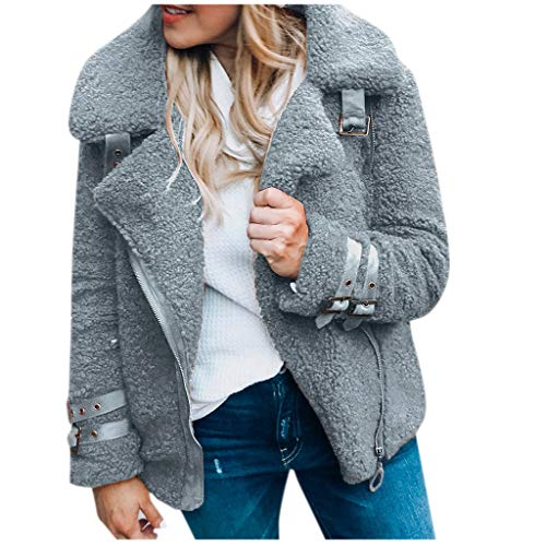 Amazon.com: TIANRUN Womens Winter Plush Slim Jacket Warm ...