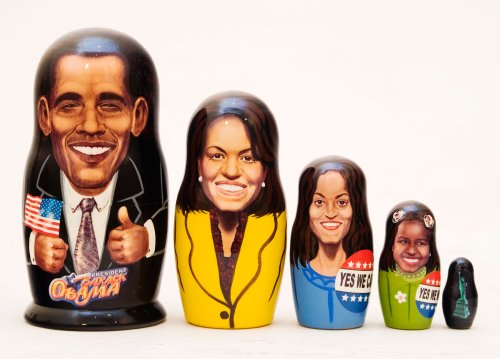 Obama Family Nesting Doll 5pc./6'' by Golden Cockerel (Image #1)