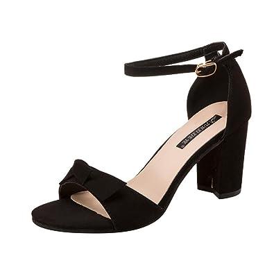 28b4efd376 Sandals for Women Jamicy Block Heels Sandals Ladies Summer Leather High  Heel Casual Shoes (35