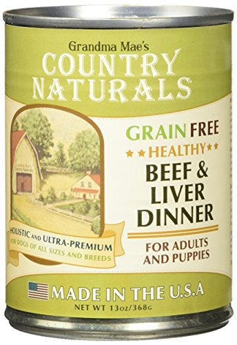 - Grandma Mae'S 79700143 12Ea/13 Oz Country Naturals Grain Free Dog Can Beef/Liver Dinner, One Size