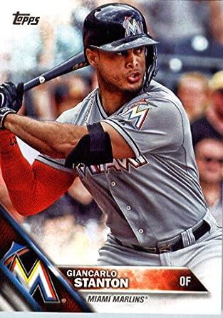 5f856ba9b Amazon.com  2016 Topps  269 Giancarlo Stanton Miami Marlins Baseball ...