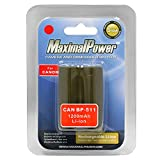 Maximal Power DB CAN BP-511 Replacement Battery for Canon Digital Camera/Camcorder (Gray)