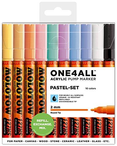 Molotow One4All 127 HS 10er Pastel Set 10 Marker Paint Lack Acryl 127HS Kit box