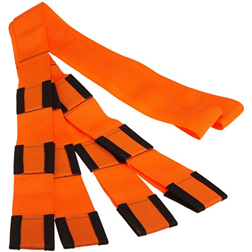 Forearm Forklift Lifting and Moving Straps for Furniture, Appliances, Mattresses or Heavy Objects up to 800 Pounds 2-Person, Made in USA, Orange, Model L74995,