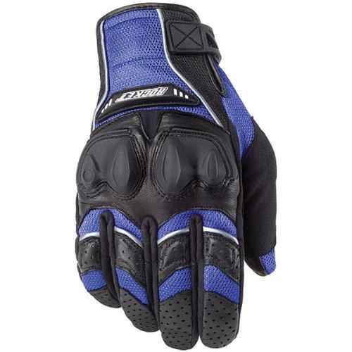 Joe Rocket Phoenix 4.0 Men's Leather Road Race Motorcycle Gloves - Blue/Black/Silver / X-Large
