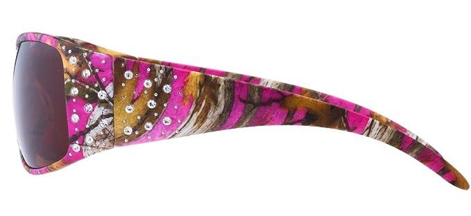 Hornz Heiße Pink-Purple Tarnung polarisierten Sonnenbrillen Country Girl Style Camo & freie passende Beutel aus Mikrofaser 3tM5c8n6Mg