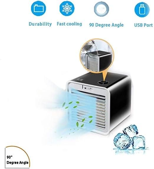 HLJ MN Enfriador De Aire 2019 Nuevo Mini Acondicionador De Aire, Ventilador USB con 3 En 1 Ventilador Purificador Humidificador,para Casa/Oficina/Camper: Amazon.es: Hogar