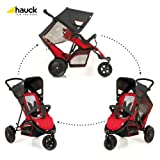 Hauck 513019 Freerider SH 12 - Silla de paseo doble (3 ruedas, sillas desmontables), color rojo