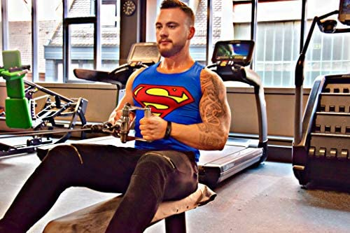 Abbigliamento Sportivo Funzionale con Taglio Slim Fit Fitness e Palestra Khroom Canotta da Uomo per Bodybuilding