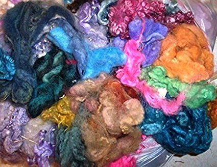 (Wool Mohair Alpaca Multicolor Exotics Spinning Felting Crafting Fiber)