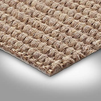 400 cm Breite Teppichboden Auslegware natur verschiedene Gr/ö/ßen Gr/ö/ße: 1 x 4m Sisal Naturfaser Schlinge Meterware