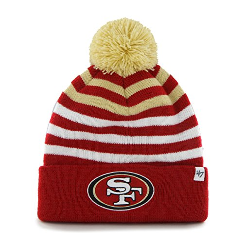 NFL San Francisco 49ers Kid's '47 Brand Yipes Cuff Knit Hat with Pom, Red