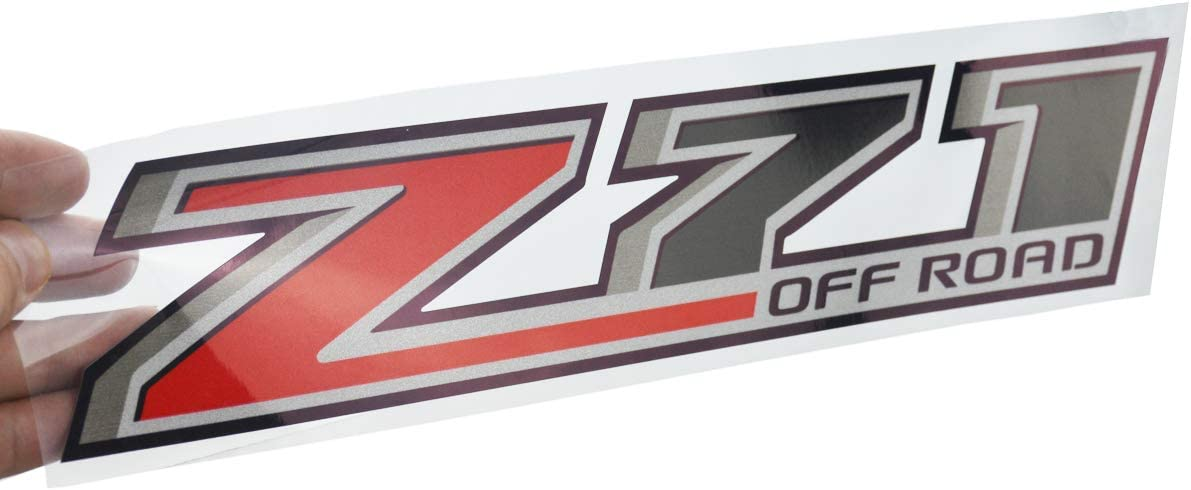 Red Gray Two Pcs Z71 Off Road Decals stickers Compatible with Chevy Silverado GMC Sierra