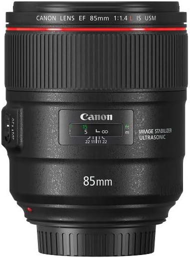 Canon Objektiv EF 85mm F1.4L IS USM Portraitobjektiv Lens für EOS (Festbrennweite, 77mm Filtergewinde, Autofokus, Bildstabilisator) schwarz