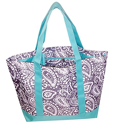 Fashion Heavy Duty Canvas Tote Bag Can be Personalized (Blank, Parker Paisley)