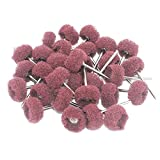 Yasumai 30 Pcs 3mm Abrasive Buffs Polishing Buffing Wheel for Dremel Rotary Tool Grinding Accessories