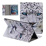 iPad Pro 12.9 inch Case,[ Shock Absorbent ] Flip PU Leather Kickstand Wallet Cover Durable Flip Case for iPad Pro 12.9 inch Tiger