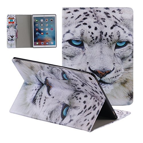 iPad Pro 12.9 inch Case,[ Shock Absorbent ] Flip PU Leather Kickstand Wallet Cover Durable Flip Case for iPad Pro 12.9 inch Tiger by Torubia