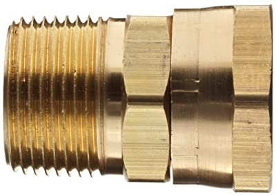 Dixon 504 Series Brass Fitting, Adapter, GHT Female Swivel x NPTF Male