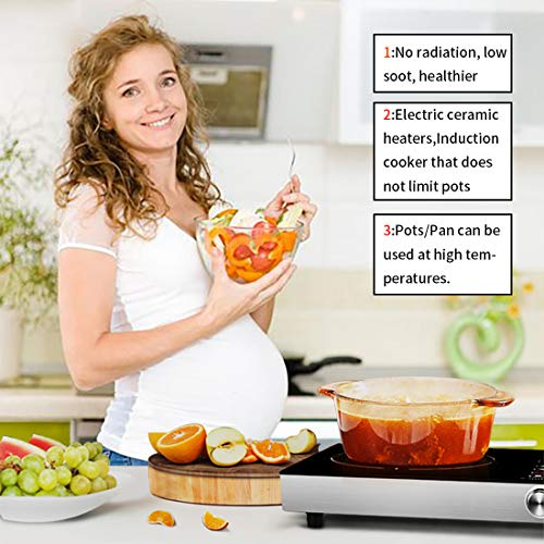 Portable Induction Cooktop Countertop Burner, 2200-Watt 120-Volts Smart Touch Sensor Countertop Induction Range Cooker, Stainless Steel Cookware with Temperature Control by Wiland (Image #2)