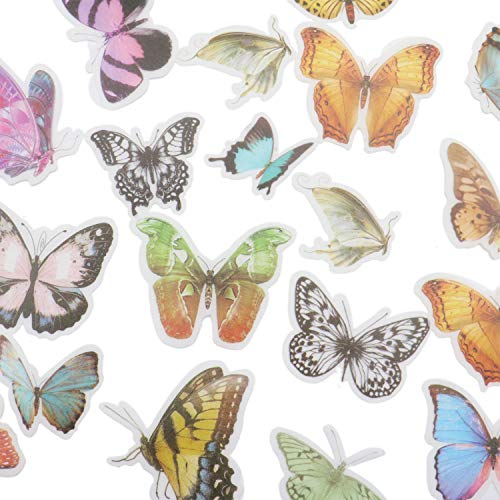 (JETEHO Plant Stickers, 180 Pieces Assorted Flower Plant and Nature Vintage Stickers for Scrapbooking, Daily Planner, DIY)