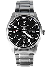 Men's SNZG13 Seiko 5 Automatic Black Dial Stainless-Steel Bracelet Watch
