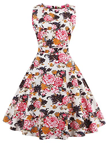 1950s Babyonline Prints Cocktail Retro Vintage Dress Dresses Evening Fuchsia Party Women 5qqEwCxrA