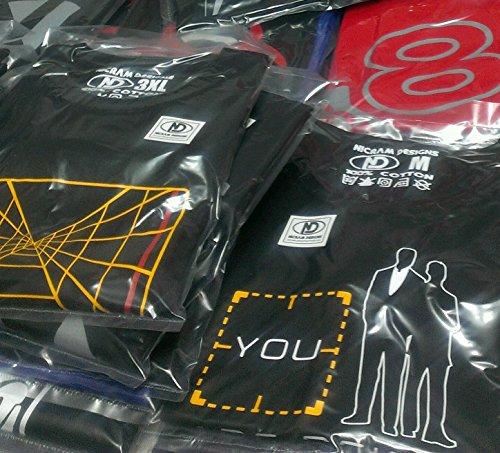 Nicram Designs - Camiseta - Cuello Redondo - para hombre BLACK + Yellow Logo