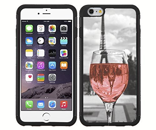 Wine Glass in Paris Rubber Snap on