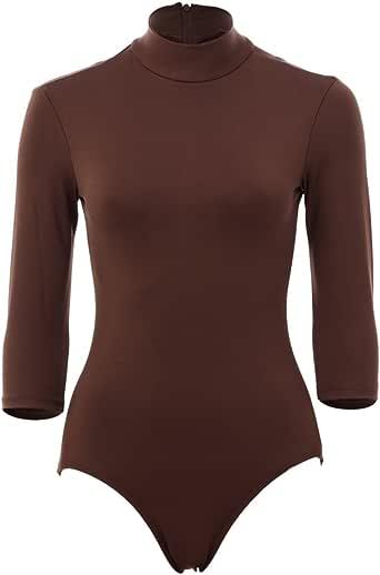 Amazon.com: Alexandra Collection Women's Brown 3/4-Sleeve ...