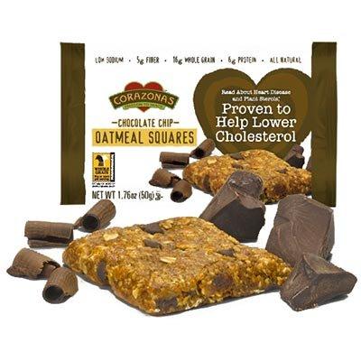 Corazonas Heart Healthy Chocolate Chip Oatmeal Squares 72 (Corazonas Heart Healthy)