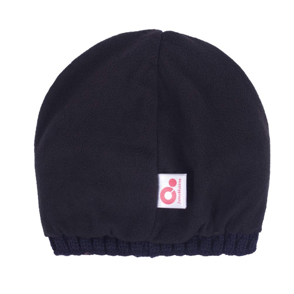 b787be03233985 Janey&Rubbins Fall Winter Visor Beanie - Fleece Lined Knit Hat with Brim -  Solid Newsboy Cap (Black) at Amazon Men's Clothing store: