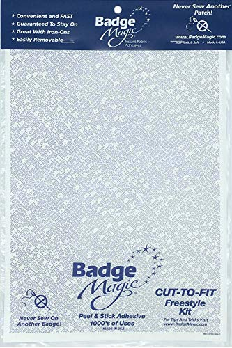 Badge Magic Cut to Fit Freestyle Patch Adhesive Kit (1-Pack) (Best Bond Girl Of All Time)