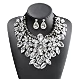 Holylove 5 Colors Costume Statement Necklace for Women Jewelry Fashion Necklace 1 Set with Gift Box