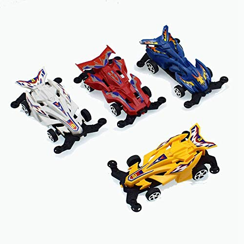 heytech Pull Back Race Car ,4 Pack Vehicles Toy...