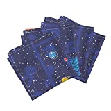 Space Astronaut Solar System Stars Alphabet Cheater Baby Organic Sateen Dinner Napkins Our Solar System Cheater by Robyriker Set of 4 Dinner Napkins