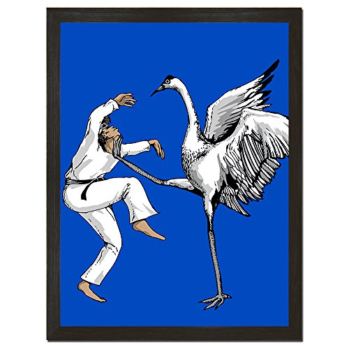 Funny Movie Poster Karate Kid Crane Bird Wall Art Gift for B