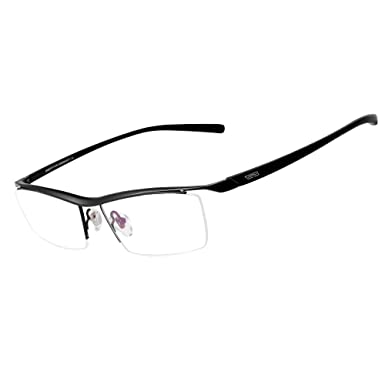 e4edf2b02c Amazon.com  Bertha Men Semi-Rimless Eyeglasses