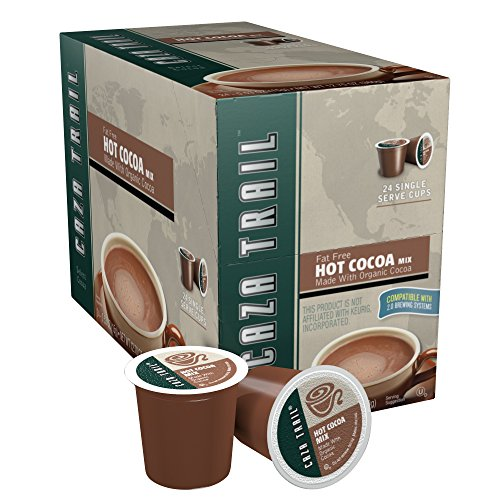 Caza Trail Coffee, Hot Cocoa/Organic Fat Free, 24 Single Serve Cups (Single Serving Trail Mix compare prices)
