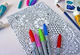 Henna Doodle Coloring Canvas For