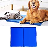 LiPing 15.7×19.7'' Self Cooling Gel Mat Cool Mat For Dogs Cats Pad Bed Mattress Heat Relief Perfect for Bath Room Any Hard Floor Doormats Decor (A)