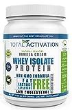 Whey Isolate Vanilla Cream, Non-GMO Premium Whey Protein Isolate, Stevia, Monk Fruit, Sunflower Lecithin, 14.82 oz